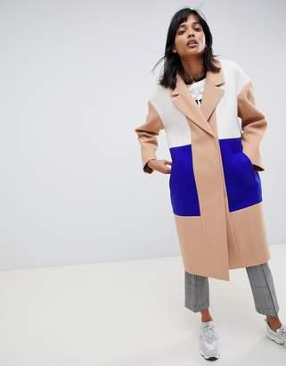 Asos Design DESIGN colourblock coat