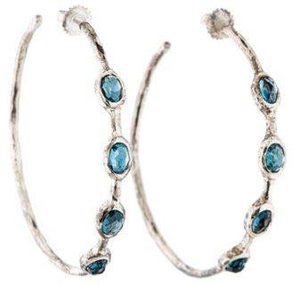 Ippolita Topaz Hoop Earrings $395 thestylecure.com
