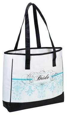 Lillian Rose Bride Tote - Aqua