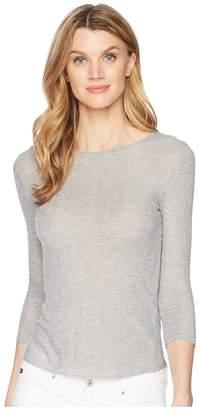Lilla P 3/4 Sleeve Crew Women's Short Sleeve Pullover