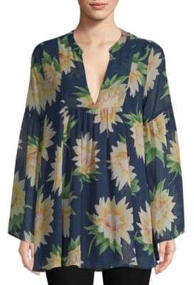 Show Me Your Mumu Mia Sunflower-Print Tunic Top