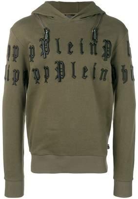 Philipp Plein embroidered pullover hoodie