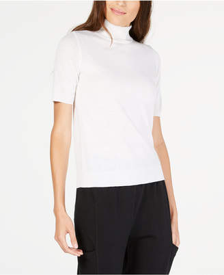Eileen Fisher Mock-Neck Wool Top