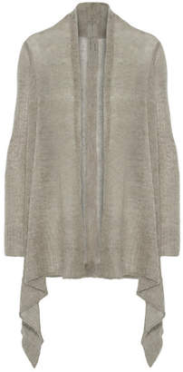 Rick Owens - Open-knit Alpaca-blend Cardigan - Gray $550 thestylecure.com