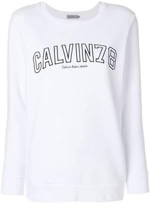 Calvin Klein Jeans logo-embroidered sweatshirt
