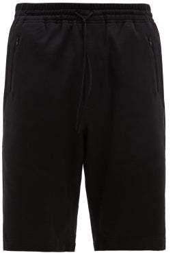 Y-3 Y 3 Classic Double Pocket Cotton Jersey Shorts - Mens - Black