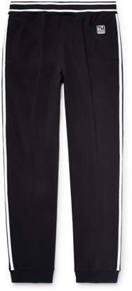 Z Zegna Slim-Fit Tapered Striped Loopback Techmerino Wool-Jersey Sweatpants