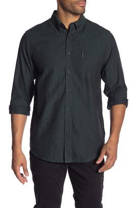 Ben Sherman Switch Solid Twill Long Sleeve Shirt