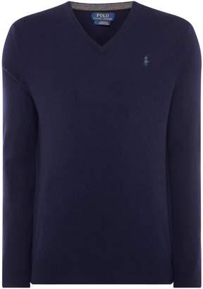 Polo Ralph Lauren Men's V Neck Long Sleeve Merino Jumper