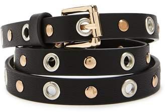 Forever 21 Studded Grommet Skinny Belt