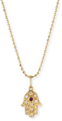 Sydney Evan 14k Gold Diamond Hamsa Pendant Necklace