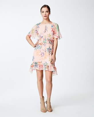 Nicole Miller Amazonia Mist Ruffle Dress