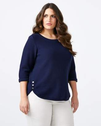 Penningtons 3/4 Sleeve Cotton Sweater - In Every Story