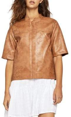 BCBGeneration Faux Leather Boxy Jacket