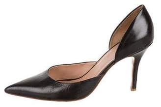 Celine Leather Pointed-Toe Pumps
