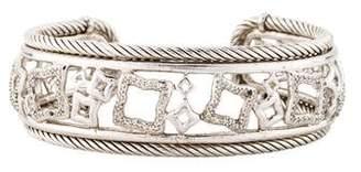David Yurman Diamond Quatrefoil Cuff