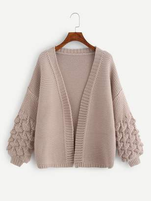 Shein Crochet Bishop Sleeve Cardigan