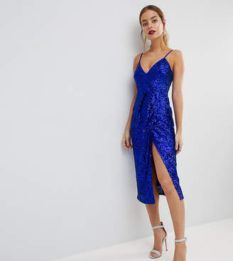 Asos All Over Sequin Cami Midi Pencil Dress