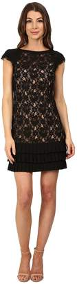 Jessica Simpson Lace Dress with Tiers Women's Dress