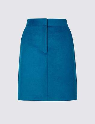 Marks and Spencer Wool Blend A-Line Mini Skirt