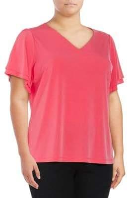 Calvin Klein Ruffle Short-Sleeve Top