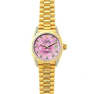 Rolex Lady DateJust 26mm Pink Yellow gold Watches