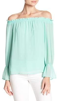WAYF Off-the-Shoulder Long Sleeve Blouse