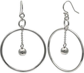 SILVER REFLECTIONS Silver Reflections Silver Plated Circle Ball Pure Silver Over Brass Round Drop Earrings