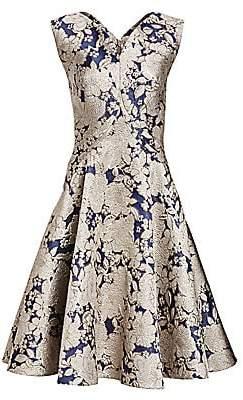 Zac Posen Women's Metallic Jacquard Cocktail Dress