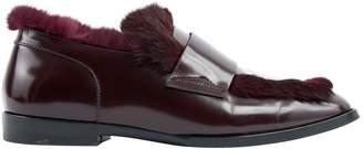 Jimmy Choo Burgundy Leather Flats