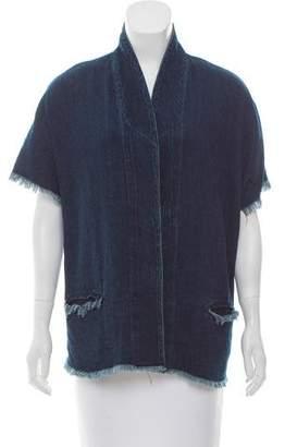 Simon Miller Fringe-Trimmed Denim Jacket