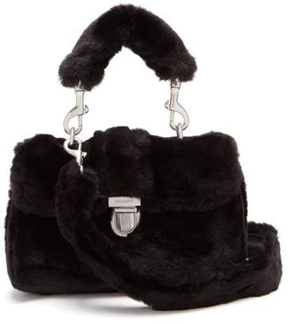 Shrimps - Sullivan Mini Faux Fur Satchel Bag - Womens - Black