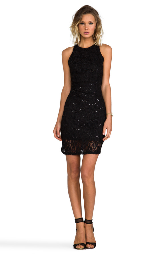MM Couture by Miss Me Racer Front and Back Sequin Dress