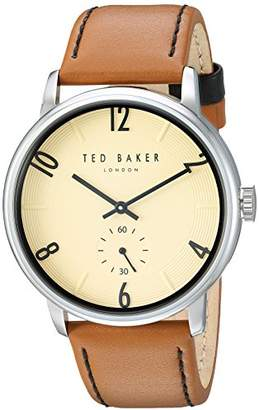 Ted Baker Men's 'Daniel' Quartz Stainless Steel and Leather Watch
