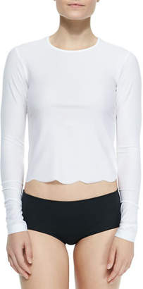 Cover UPF 50 Scallop-Cut Long-Sleeve Swim Tee
