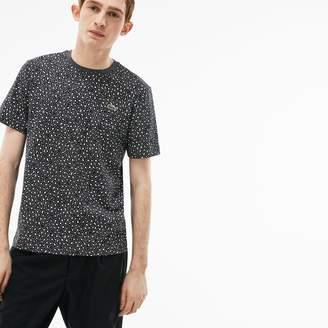 Lacoste Men's LIVE Crew Neck Leopard Print Jersey T-shirt