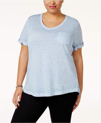 Style&Co. Style & Co Plus Size Burnout T-Shirt