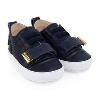 Buscemi BuscemiNavy Blue Leather 50MM Shoes