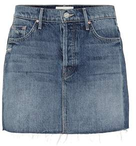 Mother The Vagabond denim miniskirt