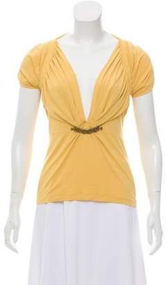 Just Cavalli Embellished Short Sleeve Top