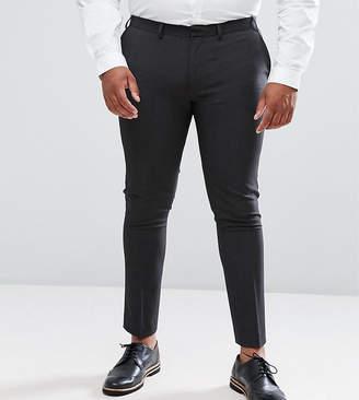 Asos Design DESIGN Plus super skinny smart pants in charcoal