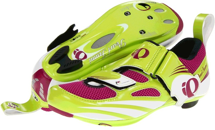 Pearl Izumi Tri Fly IV Carbon (Lime/Orchid) - Footwear