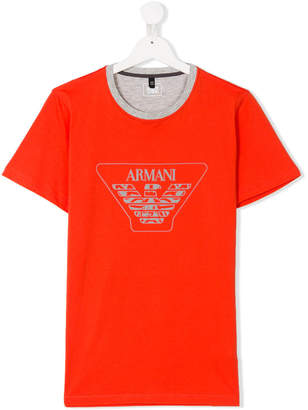 Armani Junior logo printed T-shirt