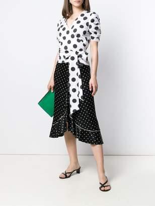 FEDERICA TOSI polka dot wrap blouse