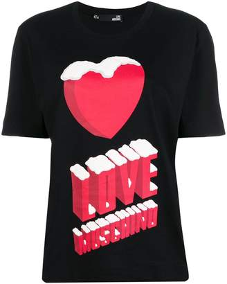 Love Moschino graphic heart logo T-shirt