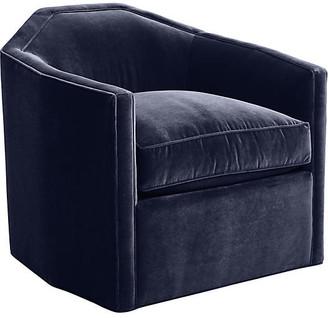 Mr & Mrs Howard Speakeasy Swivel Glider Chair - Navy Velvet