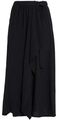 James Perse Belted Twill Midi Skirt