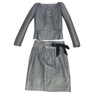 Valentino Grey Leather Jacket for Women