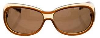 Bottega Veneta Oval Tinted Sunglasses