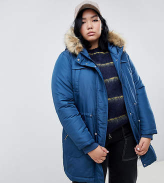 Junarose fur trim parka coat